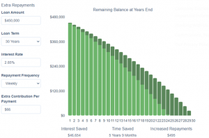 Graph to see interest savings